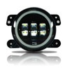 4 Inch LED White Halo Fog Lamp Lights For Jeep Wrangler JK