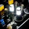 3157 3057 4157 3156 LED Tail Light Switch-Back Amber White Bulbs (2 Pack)