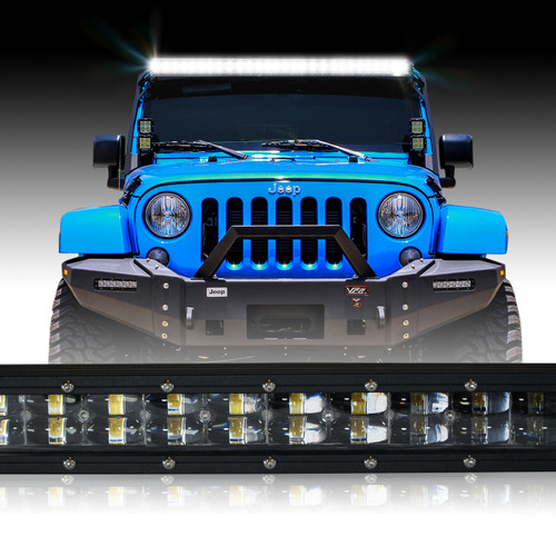 LED Light Bar 288W 50 Inches Bracket Wiring Harness Kit for Wrangler JK 2007-2017