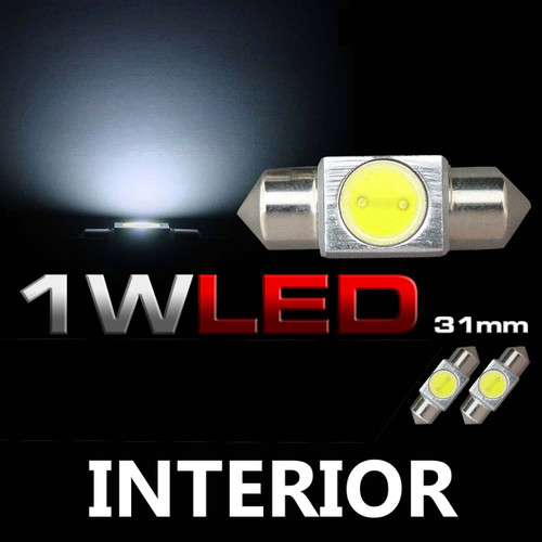 31mm DE3175 3022 3021 1W Festoon LED Dome Map Bulb (2 Pack)