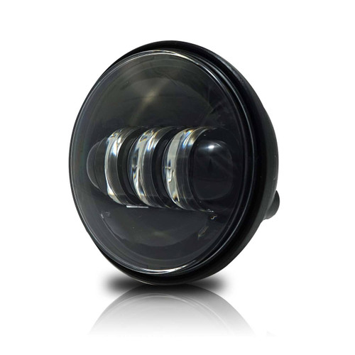 "GENSSI 4-1/2"" Black LED Auxiliary Spot Fog Passing Light Lamp For Harley Motorcycle"