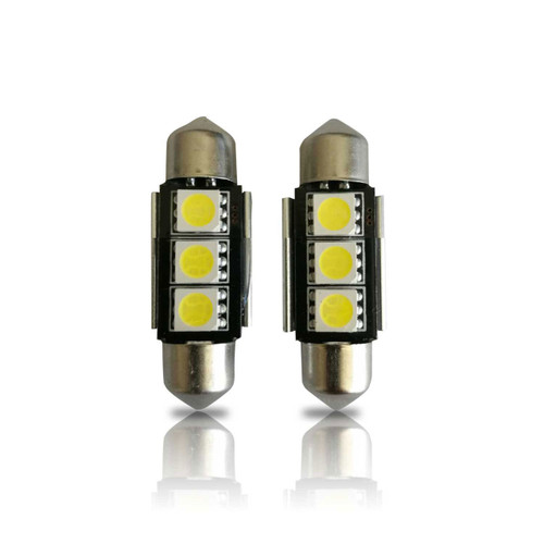 36mm 3423 3425 6411 6418 6423 6461 DE3425 CANBUS Festoon LED Bulbs (2 Pack)