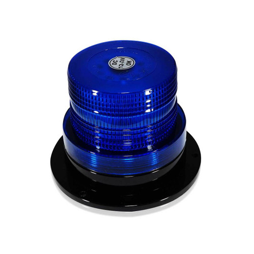 Blue LED Emergency Flash Strobe and Rotating Beacon Warning Light