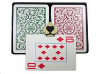 Copag 1546 Burgundy & Green - Super Index - Poker