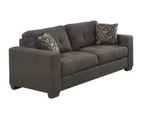 hudson sofa grey pallucci furniture. Black Bedroom Furniture Sets. Home Design Ideas