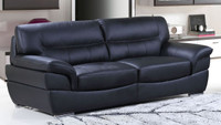 Aston Genuine Leather Sofa or couch Black