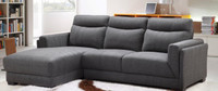 Jonah Fabric LHF Sectional Grey