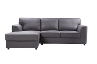 Tate Fabric LHF Sectional Grey