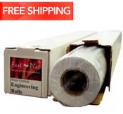 20 lb. Bond Plotter Paper Taped 17 x 650 3 Core - 72 Rolls