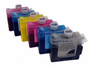 Set of 6 Ink tanks for Canon printers W8400, W8200