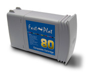 Inkjet cartridge remanufactured for   HP 80  Yellow  Dye 350ml