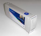 Inkjet cartridge remanufactured for  Designjet HP 91  - Light Gray