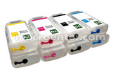 Set of 8 Refillable ink tank 70 for HP z3100, z3200