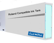 Ink tank replacement for Roland Solvent Printers - Light Cyan 440ml (SOLC-ROL-440-LC)