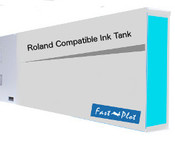 Ink tank replacement for Roland CammJet and HiFi - Cyan 220ml (SOLC-ROLPIG-220-C)