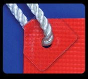 Clear Mini Banner ups w/backtab, case of 1,000 units
