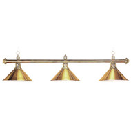 Sterling Solid Brass Pool Table Lamp, 58, 3 Brass Shades