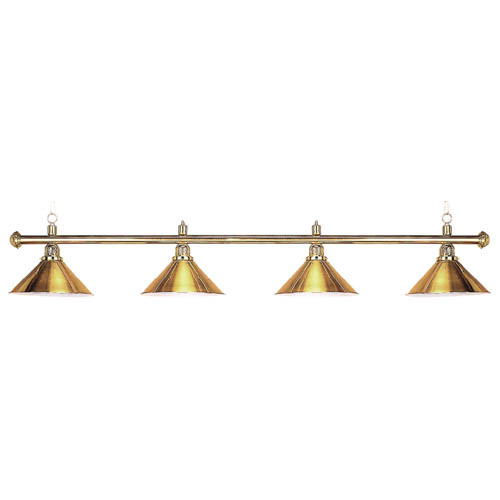 Sterling Solid Brass Pool Table Lamp, 71, 4 Brass Shades