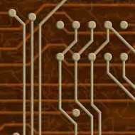 ArtScape 7' Gold Circuit Board Pool Table Cloth