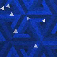 ArtScape 7' Blue Triangles Pool Table Cloth