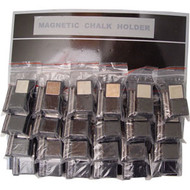 Magnetic Chalk Holders, Card of 24