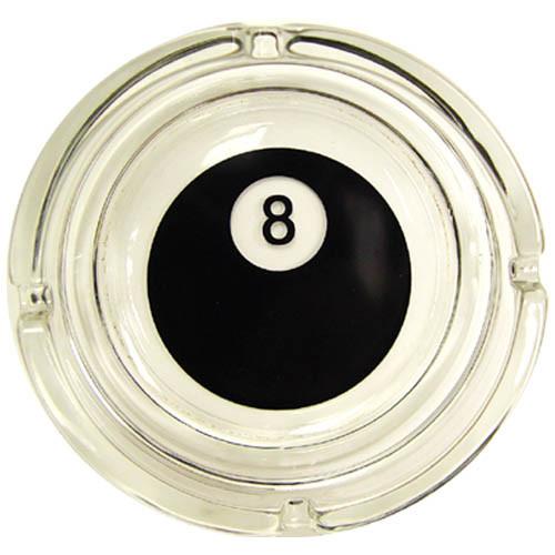 8-Ball Glass Ash Tray