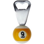 1-1/2 9-Ball Bottle Opener