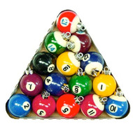 Billiard Ball Christmas Tree Ornaments (minus #4 ball)