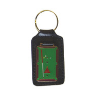 Sterling Pool Table Leather Key Chain