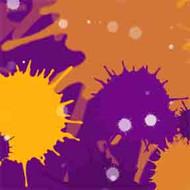 ArtScape 7' Purple Burst Pool Table Cloth