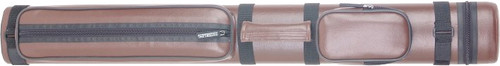 Sterling Brown Hard Pool Cue Case for 2 Cues