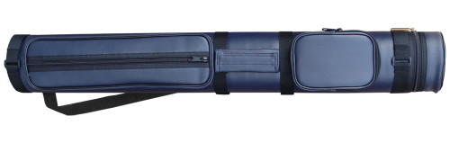 Sterling Navy Blue Hard Pool Cue Case for 2 Butts, 3 Shafts
