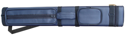 Sterling Navy Blue Hard Pool Cue Case for 2 Butts, 4 Shafts