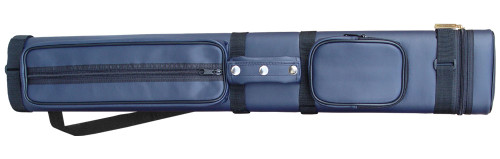 Sterling Navy Blue Hard Pool Cue Case for 3 Butts, 6 Shafts