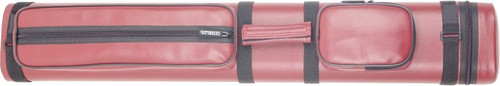 Sterling Burgundy Hard Pool Cue Case for 3 Butts, 6 Shafts