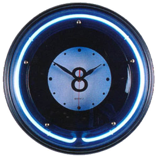 Large 8 Ball Neon Clock