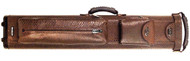 Sterling Ultra-Leather Rolling Case, 2 Butts and 4 Shafts, in Brown Reptile