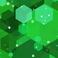 ArtScape 7' Green Hexagons Pool Table Cloth