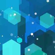 ArtScape 7' Blue Hexagons Pool Table Cloth