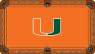 University of Miami Hurricanes 8' Pool Table Felt