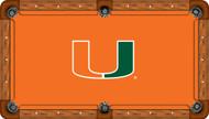 University of Miami Hurricanes 9' Pool Table Felt
