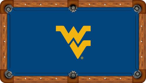 West Virginia University Mountaineers 8' Pool Table Felt