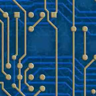 ArtScape 9' Blue Circuit Board Pool Table Cloth