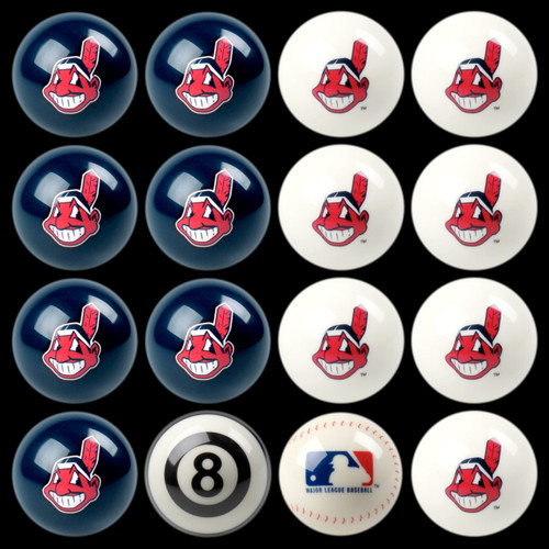 Cleveland Indians Pool Balls