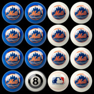 New York Mets Pool Balls