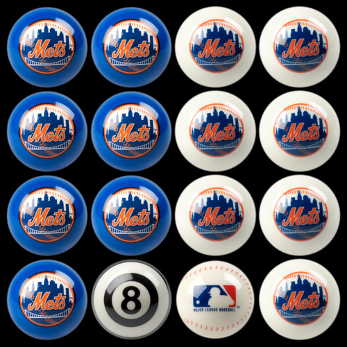 New York Mets Pool Balls