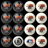Pittsburgh Pirates Pool Balls