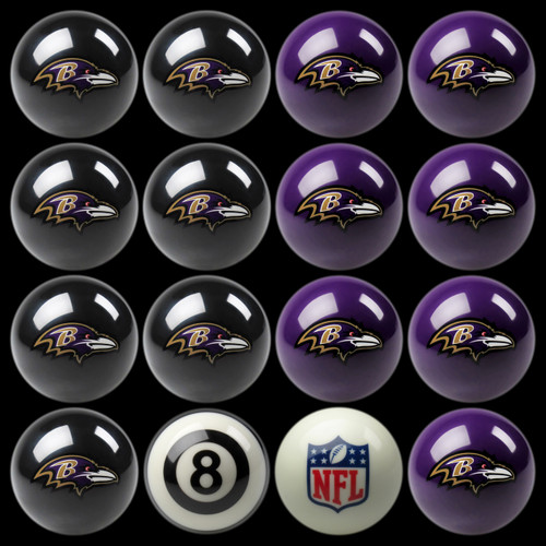 Baltimore Ravens Pool Balls