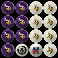 Minnesota Vikings Pool Balls