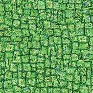 ArtScape 7' Green Mosaic Pool Table Cloth
